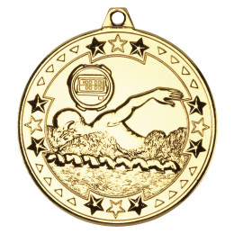 50mm Swimming 'Tri Star' Medal