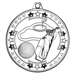 50mm Golf 'Tri Star' Medal