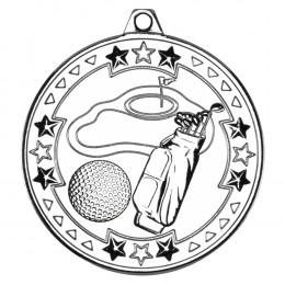 50mm Golf 'Tri Star' Medal