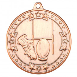 50mm Rugby 'Tri Star' Medal