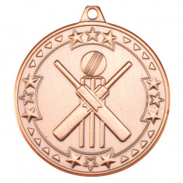 50mm Cricket 'Tri Star' Medal