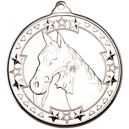 50mm Horse 'Tri Star' Medal