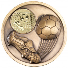 70mm Football & Boot Medallion