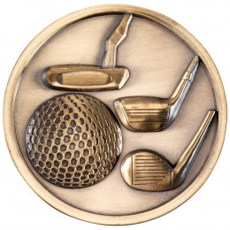 70mm Golf Clubs Medallion