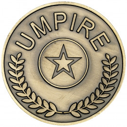 Umpire Medallion  - Antique Gold