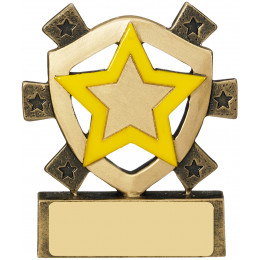 Yellow Star Mini Shield Award