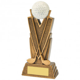 Antique Gold Golf Club & Ball Resin