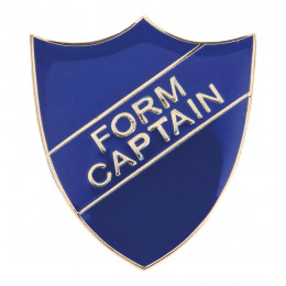 Form Captain Enamel Shield Badge