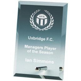 Jade Glass Plaque Award