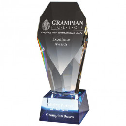 Crystal Award with Blue Tint