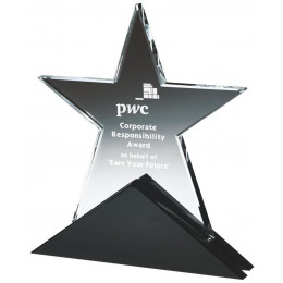 Crystal Star award on Black Base