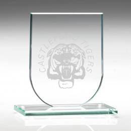 Jade Glass Shield Plaque