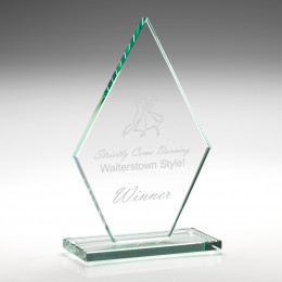Jade Glass Diamond Plaque