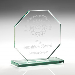 Jade Glass Octagon Plaque