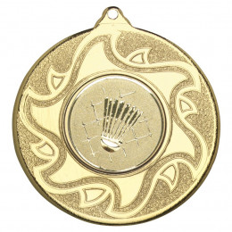 50mm Badminton Medal