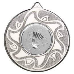 50mm Badminton Silver Medal