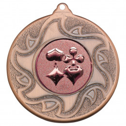 50mm Playing Card Bronze Medal