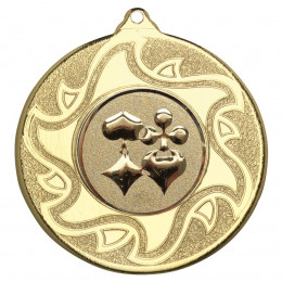 50mm Playing Card Medal