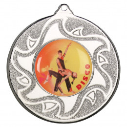 50mm Disco Dancing Silver Medal