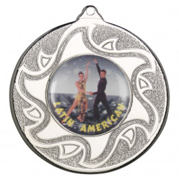 50mm Latino Dancing Silver Medal