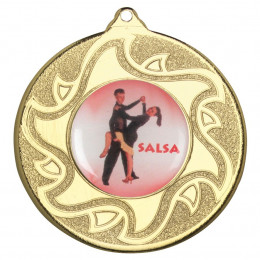 50mm Salsa Dancing Medal