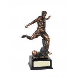 Highly Detailed Bronze Football Striker Trophy
