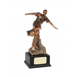Magnificent Bronze Plated Football Award