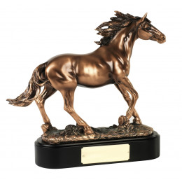 Bronze Plated Magnificent Highly Detailed Stallion