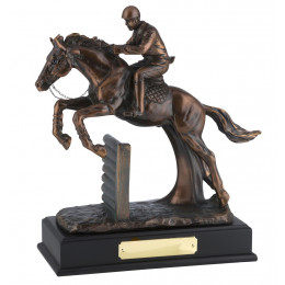 Magnificent Bronze Plated Jockey & Horse Award