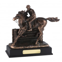 Magnificent Bronze Plated Horse & Jockey Award