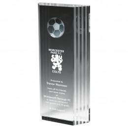 Crystal Football Award with 3D Image