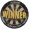 Dartboard with Winner Text - Acrylic