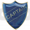 School Shield Badge Captain Blue