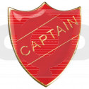 School Shield Badge Captain Red
