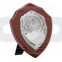 Mahogany Finish Presentation Shield