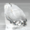 Glass Diamond Shaped Paperweight in Box