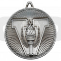 Victory Torch Deluxe Medal - Antique Silver