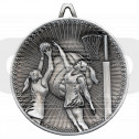 Netball Deluxe Medal - Antique Silver