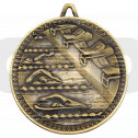 Swimming Deluxe Medal - Antique Gold