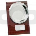 Mahogany Plaque With Tray
