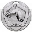 Silver Equestrian Mini Shield Medal
