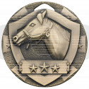 Bronze Equestrian Mini Shield Medal