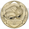 Gold Swimming Mini Shield Medal