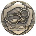 Bronze Swimming Mini Shield Medal