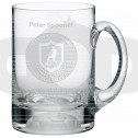 1 Pint (565Ml) Glass Football Tankard