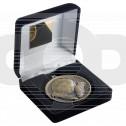 Black Velvet Box And 60Mm Medal Football Trophy - Antique Gold