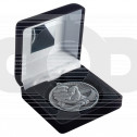 Black Velvet Box And 60Mm Medal Martial Arts Trophy - Antique Silver