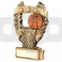Bronze & Orange Basketball 3 Star Wreath Award Trophy