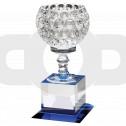 Clear Glass Goblet On Block Base Trophy
