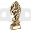 Bronze Music With Twisted Backdrop Trophy (1In Centre)